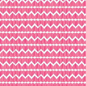 paper hearts / chevron