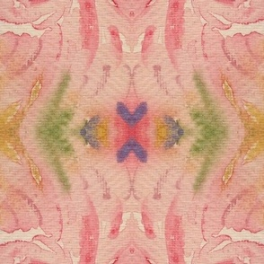 Abstract watercolor springtime pattern