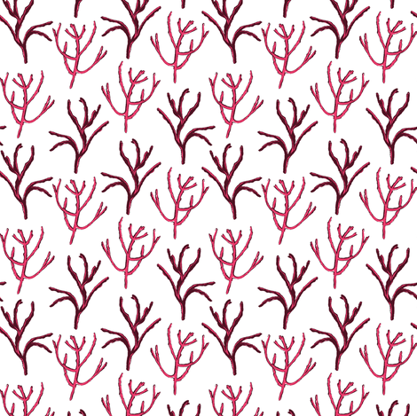 Pink Picked Branches fabric by bermudezbahama on Spoonflower - custom fabric