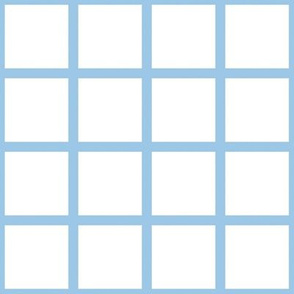 Grid Blue on White