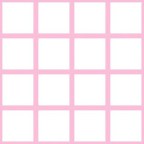 Grid Pink on White