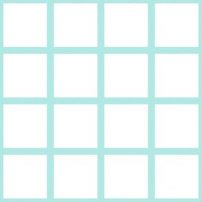Grid Mint on White