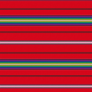 Stripes by Pyhalepa, red, Hiiumaa