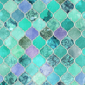 Pale Mint & Lilac Decorative Moroccan Tiles