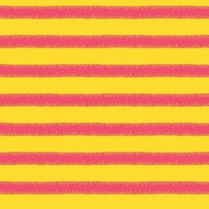 Pink on Yellow Stripe