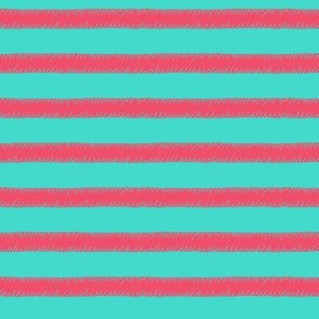 Pink on Mint Stripe