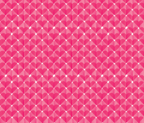 paper hearts / layers fabric by sarahgdesign on Spoonflower - custom fabric