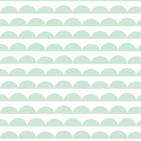 Scallops // mint fabric by littlearrowdesign on Spoonflower - custom fabric