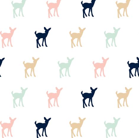 Multi Fawn Briar Woods (small scale) fabric by littlearrowdesign on Spoonflower - custom fabric