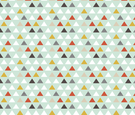 red mint triangles half scale fabric by mrshervi on Spoonflower - custom fabric
