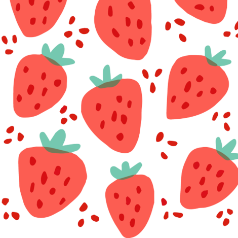 Strawberry Patch fabric by ellolovey on Spoonflower - custom fabric