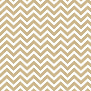 Chevron in Gold Wavy Zigzag