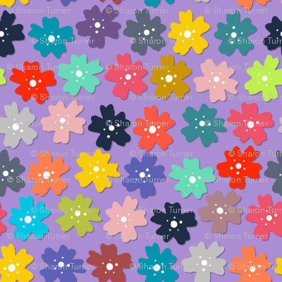 midnight woodland flowers purple