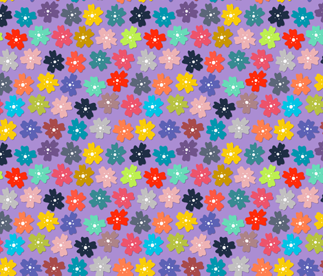 midnight woodland flowers purple fabric by scrummy on Spoonflower - custom fabric
