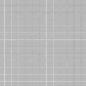 white grid on medium grey | pencilmeinstationery.com