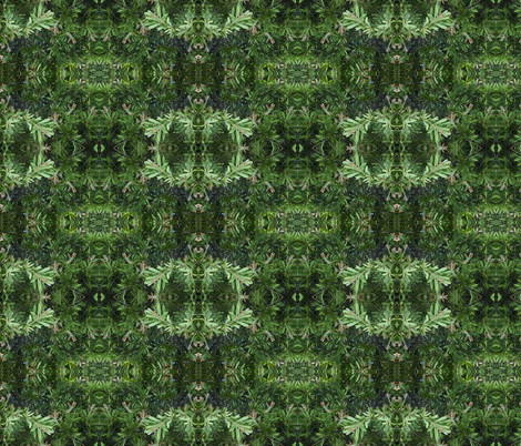 Spooky Emerald Eyes in the Green Realm (Ref. 1201) fabric by rhondadesigns on Spoonflower - custom fabric
