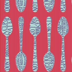 Spoon-fed wisdom - cheery