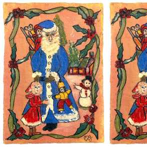 edith-joy designs Santa and madeline