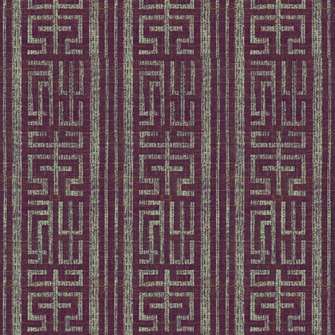 Labyrinth - plum, grey fabric by materialsgirl on Spoonflower - custom fabric