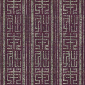 Labyrinth - plum, grey