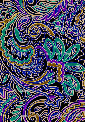 Peacock Paisley