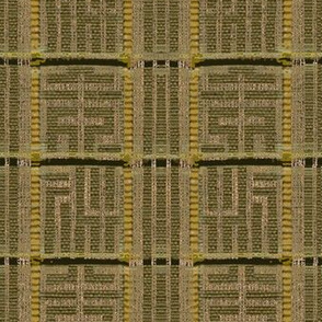 Labyrinth - khaki, green, yellow
