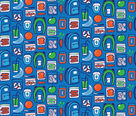 Rumbles (in Tummies!) fabric by smashworks on Spoonflower - custom fabric