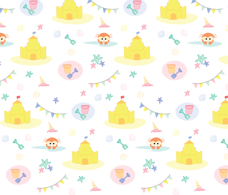 A Day At The Beach fabric by charlottemahy on Spoonflower - custom fabric