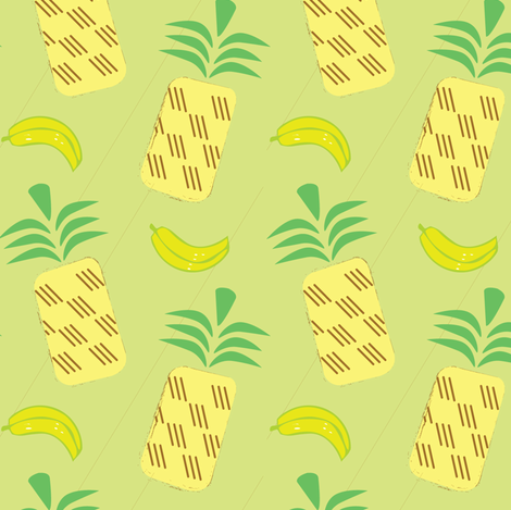 Pineapple Banana fabric by pixabo on Spoonflower - custom fabric