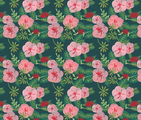 Hibiscus by The Prime Floridian fabric by theprimefloridian on Spoonflower - custom fabric