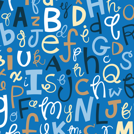 Alphabetical fabric by smashworks on Spoonflower - custom fabric