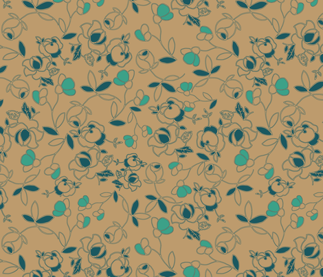 tea_time_brown_ fabric by megancarroll on Spoonflower - custom fabric