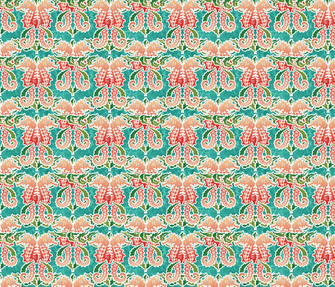 Seahorses fabric by hannafate on Spoonflower - custom fabric