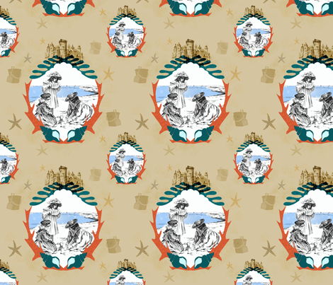sand_castle_pattern2 fabric by ajr51594 on Spoonflower - custom fabric