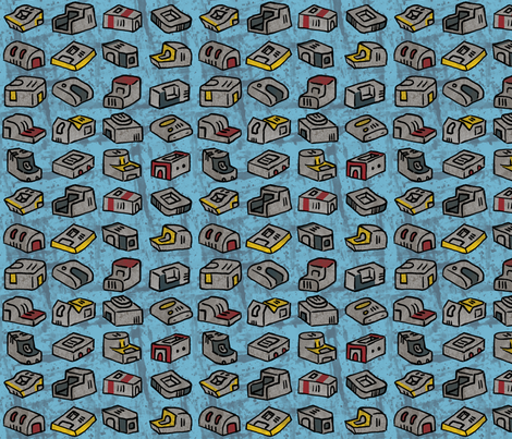 Powertool charging stations fabric by mongiesama on Spoonflower - custom fabric