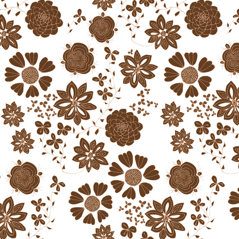 Free the Flowers (white background) fabric by arts_and_herbs on Spoonflower - custom fabric