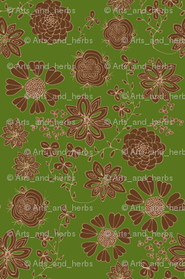 Free the Flowers (dark green background)