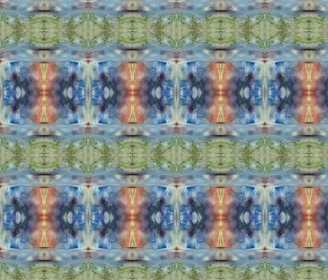 encaustic field with dawn sky fabric by vinkeli on Spoonflower - custom fabric