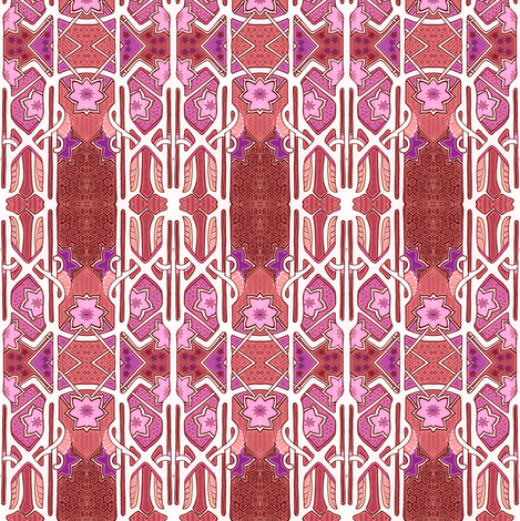 Flower Tower fabric by edsel2084 on Spoonflower - custom fabric