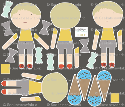 BOY Doll Fabric - Cole