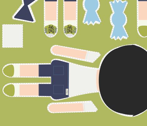 BOY Doll Fabric - Jet TWINS fabric by seekatesewfabric on Spoonflower - custom fabric