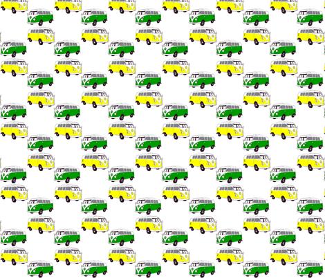 yellow_green_buses fabric by kris_campau on Spoonflower - custom fabric