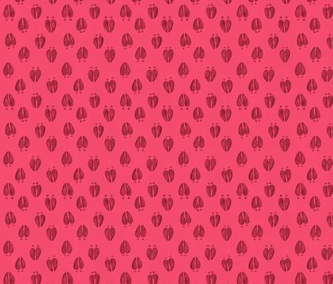 Deer Tracks Hot Pink fabric by meganmerz on Spoonflower - custom fabric