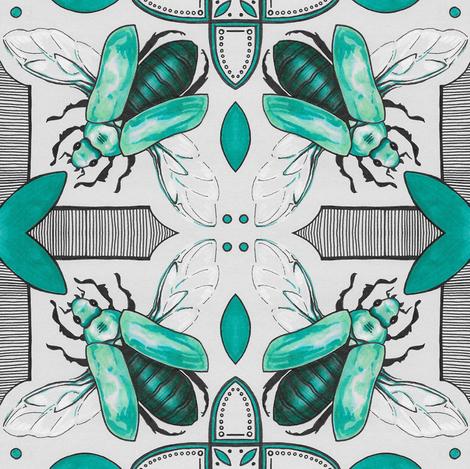 Beetle Tile Print fabric by gretchendiehl on Spoonflower - custom fabric