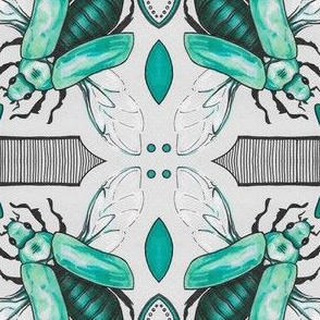 Beetle Tile Print