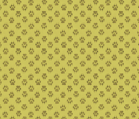 Canine Pawprints Celery Green fabric by meganmerz on Spoonflower - custom fabric