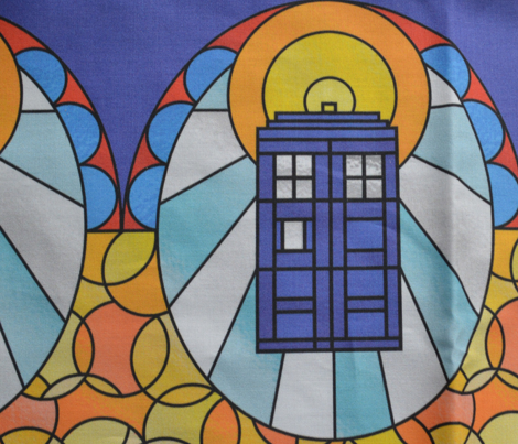 Police Box Stained Glass Border