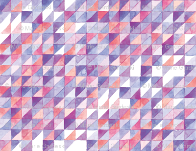 Watercolor Triangle Grid | Purple