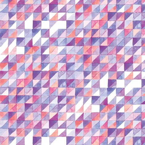 Watercolor Triangle Grid | Purple fabric by imaginaryanimal on Spoonflower - custom fabric