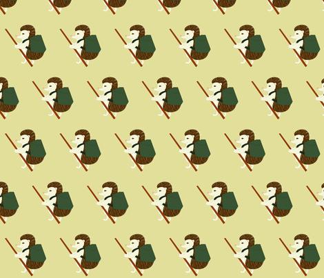 hedgehog hiking fabric by pamelachi on Spoonflower - custom fabric